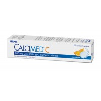 Calcimed C, 600 mg Ca/ 300 mg C šumeće tablete (20 tableta)