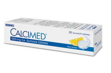 Calcimed, 500 mg Ca šumeće tablete (20 tableta)