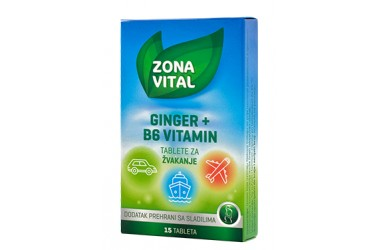 GINGER + B6 vitamin  tablete za žvakanje